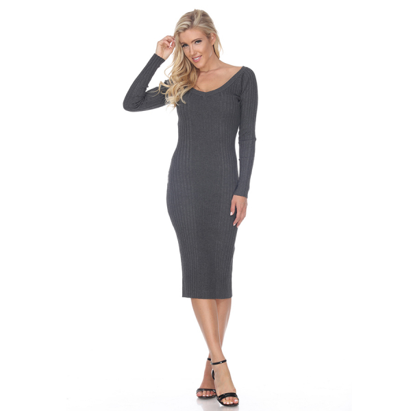 Destiny Sweater Dress - Charcoal