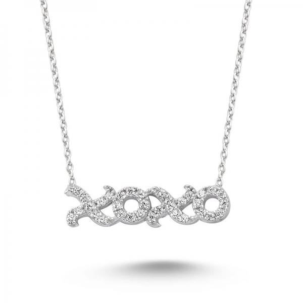 XOXO Silver Necklace