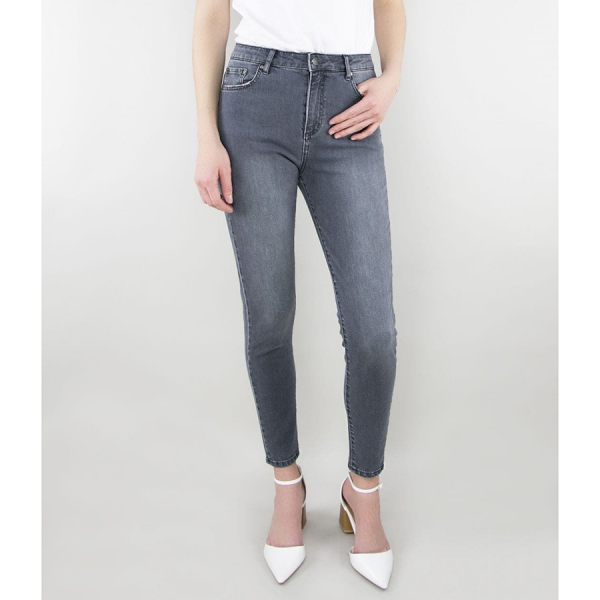 TRACTR ULTRA HIGH RISE ANKLE SKINNY - GREY