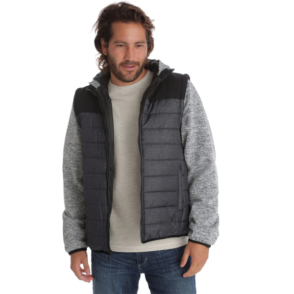 MARVIN QUILTED PUFFER JACKET - BLACK
