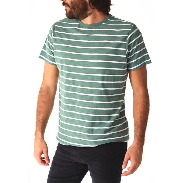 Nolan Striped Tee - neptune green