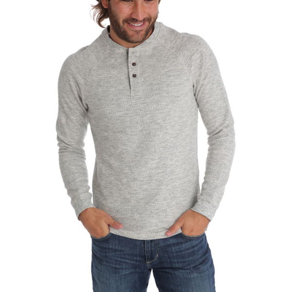 Dustin Thermal Henley - Grey Heather