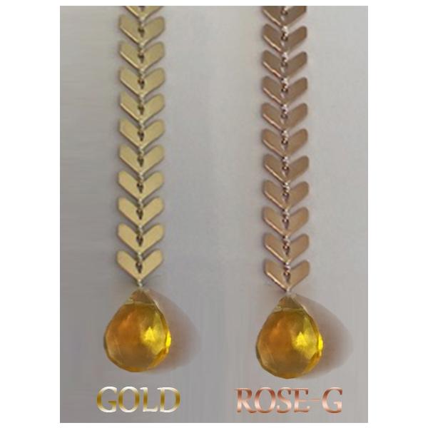 Chevron Earrings w/Fire Opal