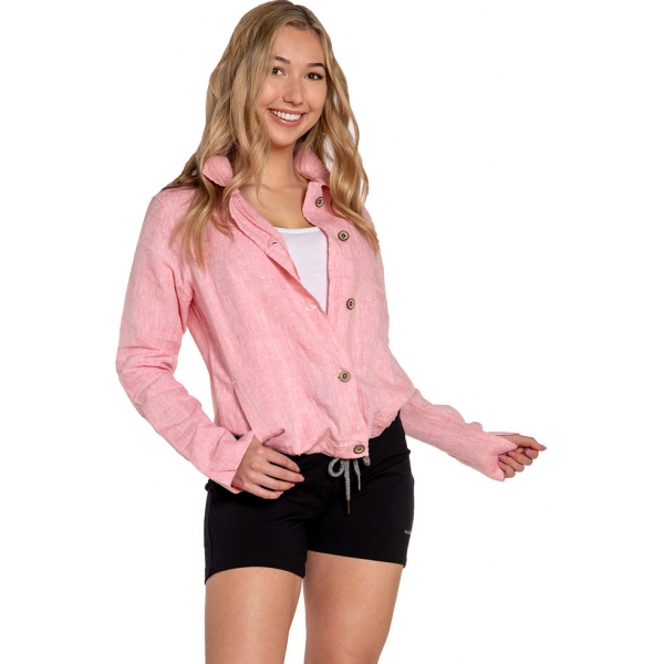 Cora |Linen Woven Jacket - Peony