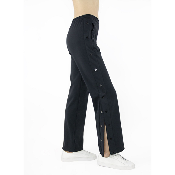 Tractr Jeans Side Snap Track Pants - Black