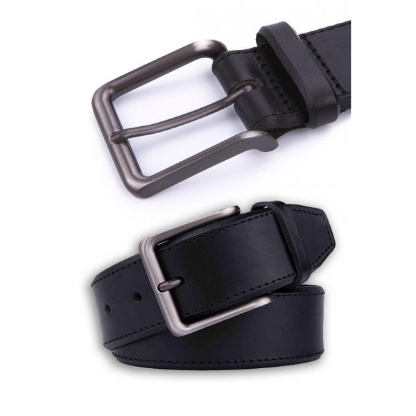 Landmark / Men's Italian Genuine Leather Belt - BLACK