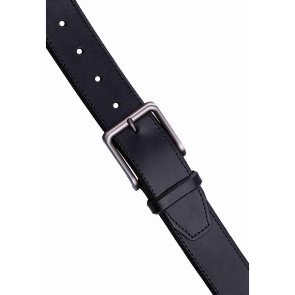 Landmark / Men's Italian Genuine Leather Belt - BLACK
