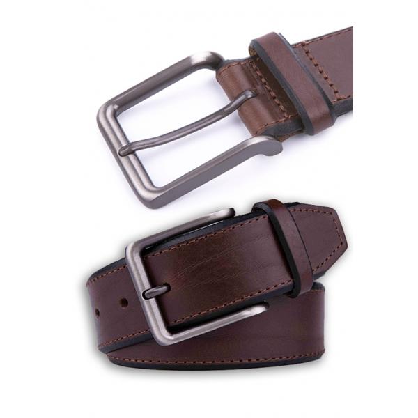 Landmark / Men's Italian Genuine Leather Belt - BROWN