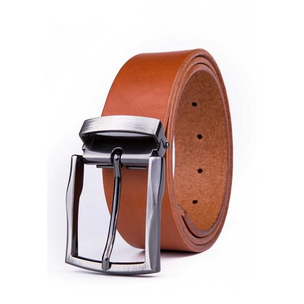 Landmark / Men's Italian Genuine Leather Belt - LIGHT BROWN