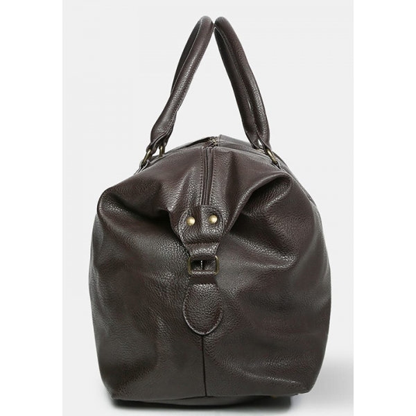 PX / Gunner Vegan Leather Duffle Bag - Brown