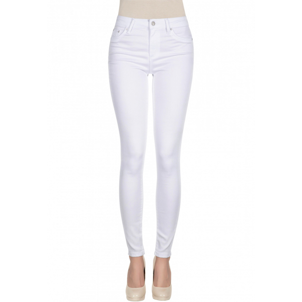 Tractr / Nina High Waist Skinny - White