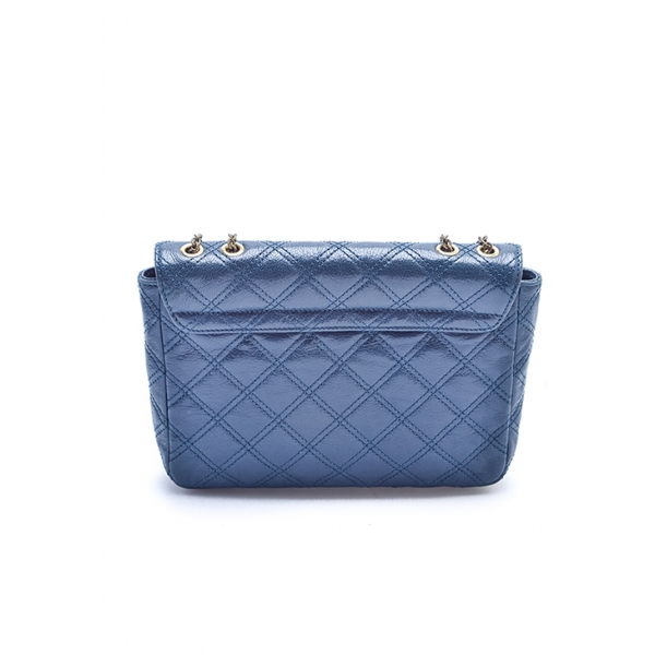 MARC JACOBS / QUILTED LEATHER MESSENGER PURSE -ATLANTIC BLUE
