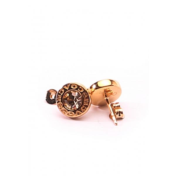 COACH JEWELRY / STONE STUD EARRINGS - ROSE GOLD