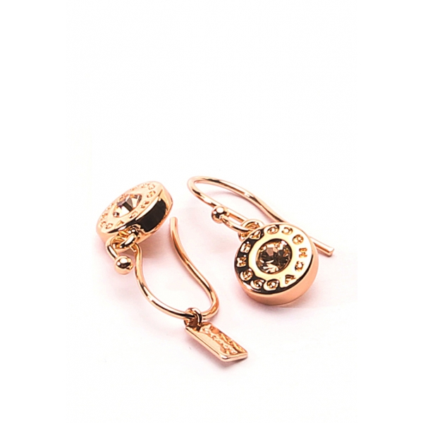 COACH JEWELRY / STONE EARRING ON WIRE - ROSE GOLD