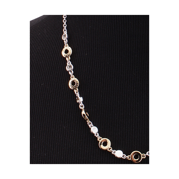 COACH JEWELRY / SIGNATURE CIRCLE NECKLACE - GOLD & SILVER