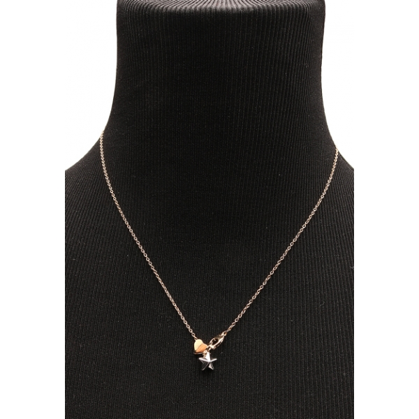 COACH JEWELRY / STARDUST SIGNATURE NECKLACE - GOLD & SILVER