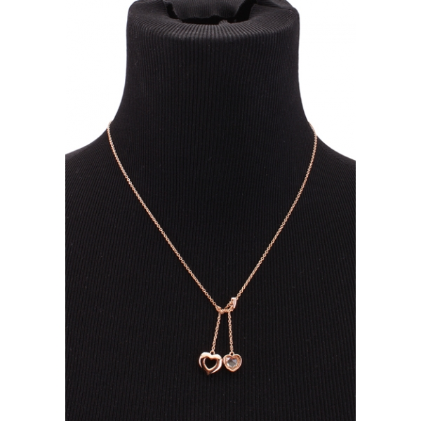 COACH JEWELRY / HEART LAR NECKLACE - ROSE GOLD