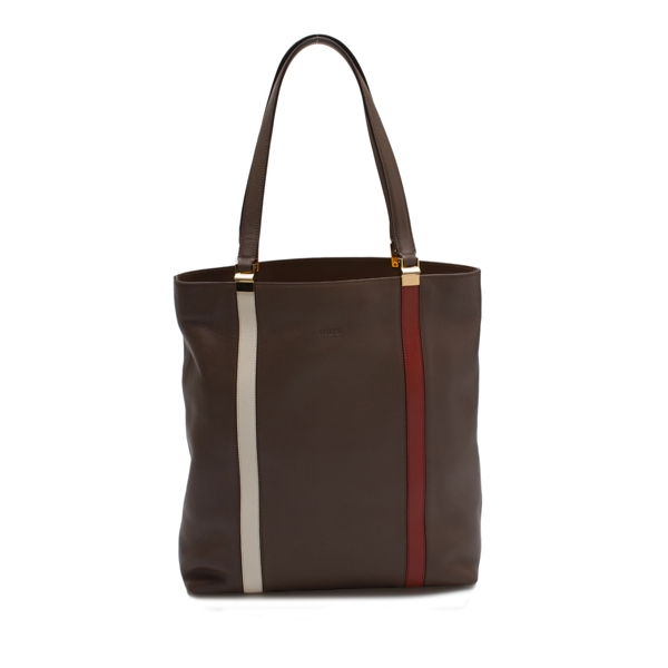 TODS / TALL TOTE - BROWN
