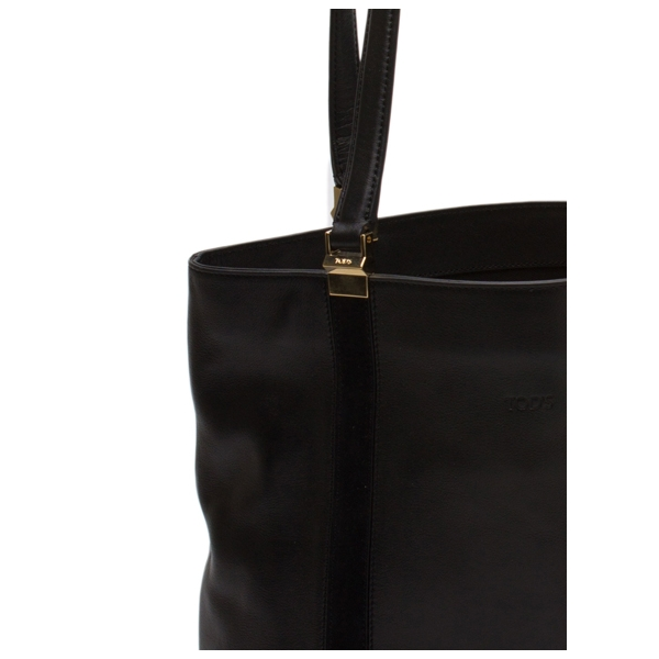 TODS / TALL TOTE - BLACK