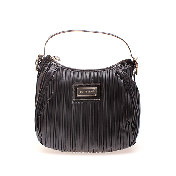 BYBLOS / PLEATED SHOULDER BAG - TESTA MORO