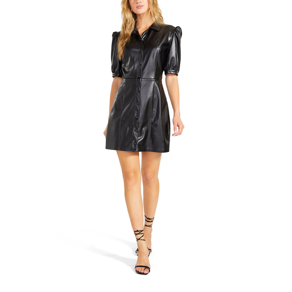 FAUX WAY OUT DRESS - BLACK