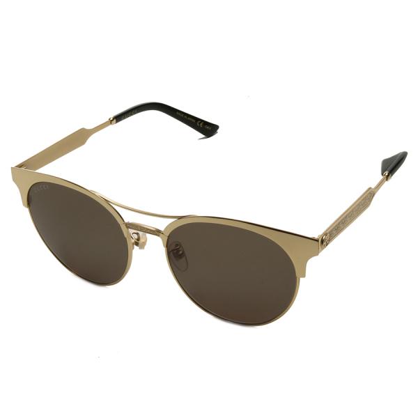Gucci / ROUND CAT EYE SUNGLASSES - GOLD TONE