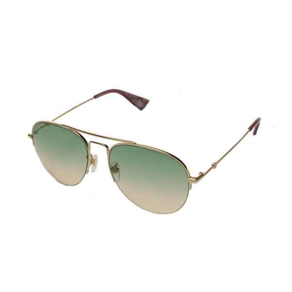 Gucci / CLASSIC AVAITOR SUNGLASSES - GOLD TONE