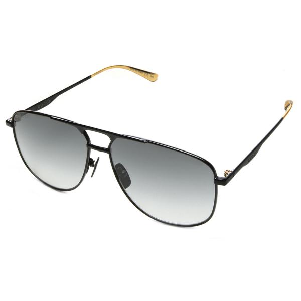 Gucci / AVAITOR SUNGLASSES - BLACK /GOLD TIP
