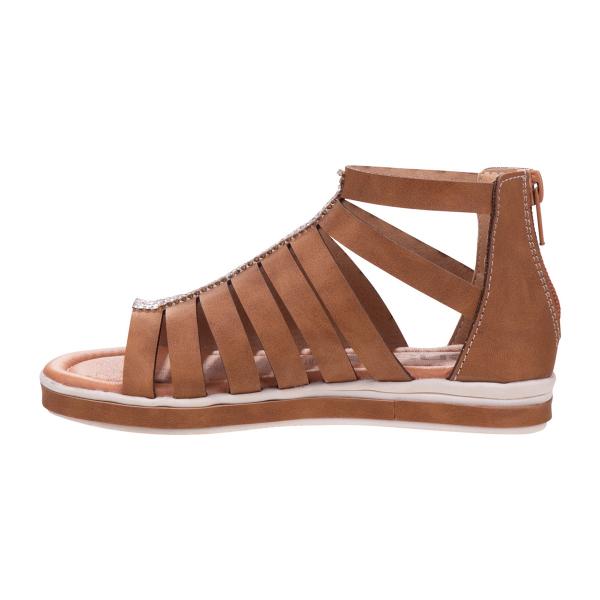 Gladiator Sandal with Embellishment - Tan