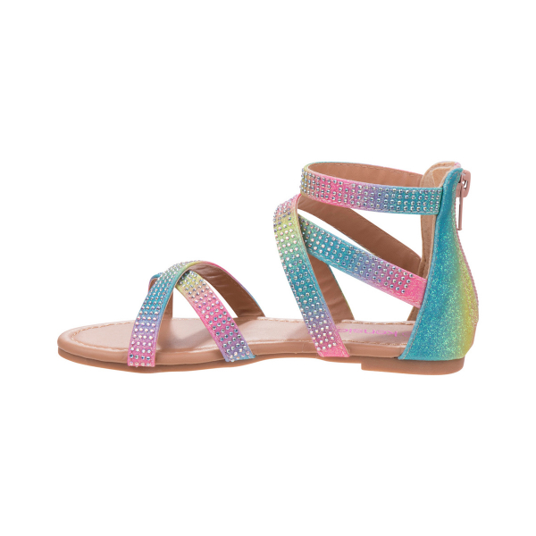 Rainbow tie dye Ankle-high Sandal  - Multi