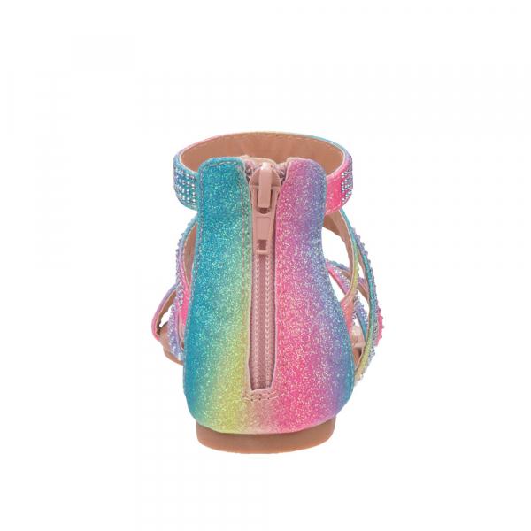 Rainbow tie dye Ankle-high Sandal  - Multi