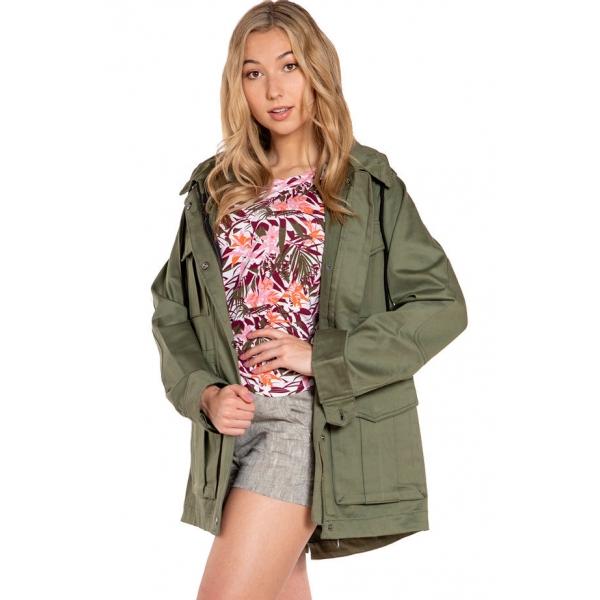 Citrine |Hooded Field Jacket - Palm